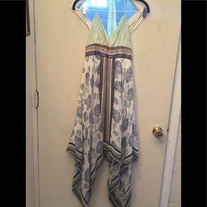Silk midi dress with sequin embellishment s